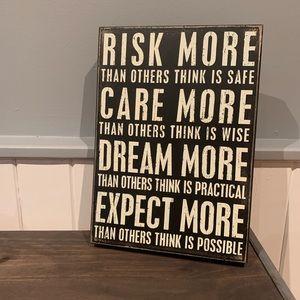 Risk more walk art